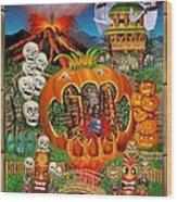Freaky Tiki Tombs Wood Print