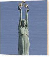 Freedom Monument Wood Print