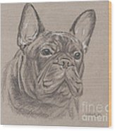 French Bulldog - Snickers Wood Print