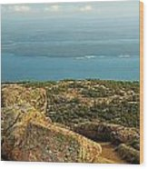 Frenchman's Bay From Cadillac Mountain Wood Print