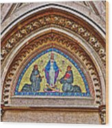 Fresco In Front Of Saint Anthony's Church In Istanbul-turkey  Wood Print