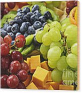 Fresh Fruits Wood Print by Elena Elisseeva