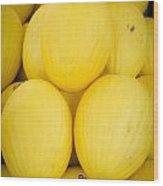 Fresh Melons On A Street Fair In Brazil Wood Print by Ricardo Lisboa