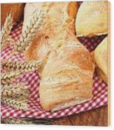 Freshly Baked Bread  Wood Print