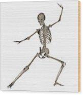 Front View Of Human Skeleton Wood Print