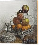 Fruit Still Life Wood Print by Lesley Rigg