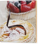 Fruit Tarts Wood Print