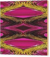Fuchsia Sensation Zigzags Wood Print