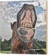 Funny Horse Wood Print