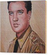 G I Elvis  Wood Print
