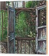 Garden Backyard Wood Print