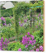 Garden Of Claude Monets House, Giverny Wood Print