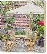 Garden Seating Area Wood Print