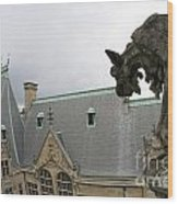 Gargoyles On Roof Of Biltmore Estate Wood Print