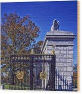 Gate To Arlington Cemetery Wood Print