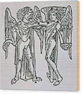 Gemini An Illustration Wood Print