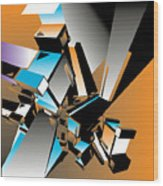 Geometric Colorful Design Abstract Wood Print