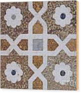Geometric Designs On The Baby Taj Agra Wood Print