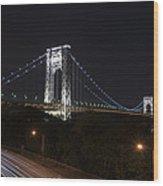 George Washington Bridge - Memorial Day 2013 Wood Print