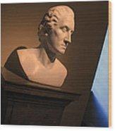 George Washington Dark Blue -- Horatio Greenough Wood Print
