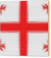 Georgian Flag Wood Print