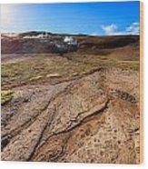 Geothermal Field Wood Print
