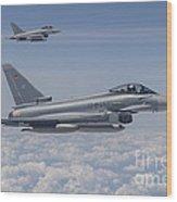 German Eurofighter Typhoon Jets Wood Print