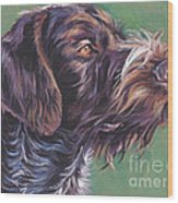 German Wirehaired Pointer Wood Print