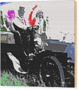Geronimo At The Wheel 1904 Locomobile Model C Touring Car On The 101 Ranch In Oklahoma 1905 Wood Print