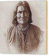 Geronimo Native American Chief Wood Print