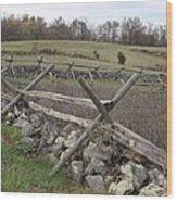 Gettysburg Fence Row 3 Wood Print