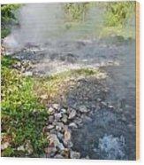 Geyser Hot Spring In Huai Nam Dang National Park  In Chiang Mai Wood Print