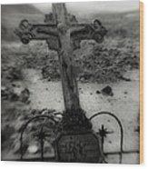 Ghost Town Cross Wood Print