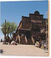 Ghost Town Saloon Wood Print
