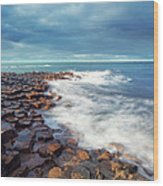 Giants Causeway On A Cloudy Day Wood Print