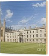 Gibbs Building And Kings College Chapel In Cambridge Wood Print