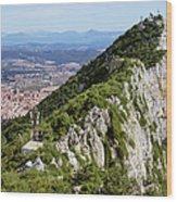 Gibraltar Rock Wood Print