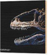 Giganotosaurus Skull 3 Wood Print