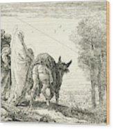 Giovanni Domenico Tiepolo Italian, 1727 - 1804. The Flight Wood Print