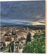Girona Cityscape Wood Print