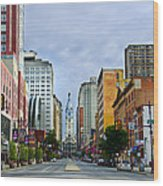 Give My Regards To Broad Street Wood Print by Bill Cannon
