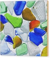 Glass Beach Beach Glass Wood Print