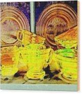 Glassware Wood Print