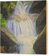 Glen Iris Waterfall Wood Print