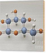 Glucose Molecule Wood Print