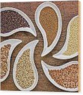 Gluten Free Grain Abstract Wood Print