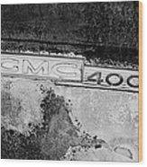 Gmc 4000 V6 Pickup Truck Side Emblem Wood Print