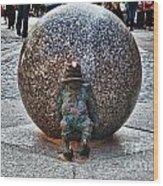 Gnome Statue Wroclaw Poland Wood Print
