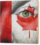 Go Canada Wood Print
