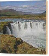 Godafoss Waterfall Wood Print